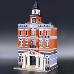 New City Hall Model Assembly Set Compatible Building Blocks Bricks Toys GIfts