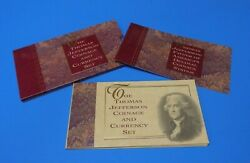 1993 United States Mint Thomas Jefferson Coinage And Currency Set Silver Dollar