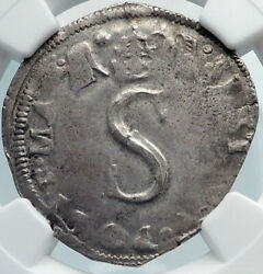 1585ad Papal States Of Avignon In France Silver Coin Of Pope Sixtus V Ngc I81867