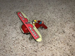 Vintage Marx Toys Looping Plane Wind Up Schuco Tin Airplane Toy