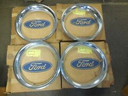 Nos 1967 Ford Mustang Fairlane Gt Trim Rings Set Of 4 C7zz-1210-a Styled Wheel