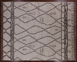 Moroccan Hand Knotted Wool Area Rug 8' 4 X 10' 1- Q3678