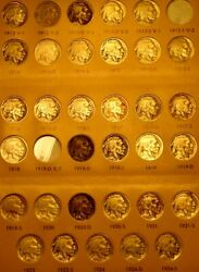 1913—1938—buffalo—indian—head—nickel—complete—collection—w/pcgs G 4—1913 S Type2