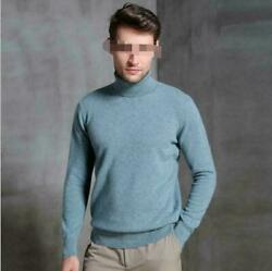9 Colors Sold Base Tops Menand039s Slim Warm High Collar Cashmere Sweater Turtle Neck