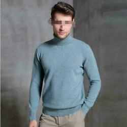 9 Colors Sold Base Tops Men's Slim Warm High Collar Cashmere Sweater Turtle Neck