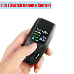 Car Air Heater 2 In 1 Switch And Remote Control Black Visual Heater Working Status