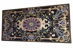 48 X 24 Marble Center Table Top Semi Precious Stones Inlay Home Furniture