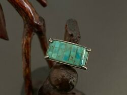 Vintage Southwestern Sterling Silver Turquoise Ring Size 6.5