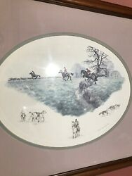 Nigel Hemming The Hunt Fox Hunters And Hounds Equestrian Signed Print