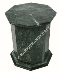 29h 18 Dia Green Marble Stand Table Top Base Furniture Home Decor E5621