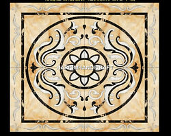 Square Marble Home Table Inlay Decorative Bedroom Marquetry Rare Stone Art H4995
