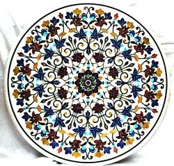 42 Marble Center Dining Table Top Handmade Inlay Art For Home Decor And Gift