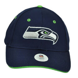 NFL Seattle Seahawks Constructed Navy Blue Hat Cap Curved Bill Adjustable Youth $10.46