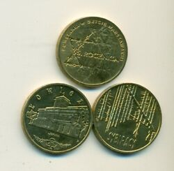 3 Nice Uncirculated 2 Zlote Coins From Poland All Dating 2008 3 Types