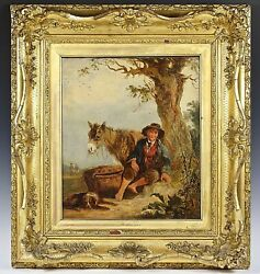 Antique Oil On Canvas Panting By William Shayer Snr 1787-1879 Art Work Signed