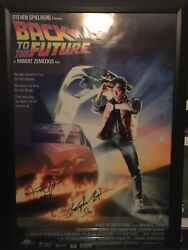 Back To The Future Michael J Fox And Christopher Lloyd Signed And Inscribed Poster