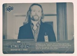 2019 Upper Deck Agents Of Shield Cyan Printing Plate Season 4 Ep 13 153 1/1