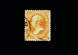 Us Stamp Used, Xf S163 Very Light Cancel, Extremely Fresh Color, Large Margins