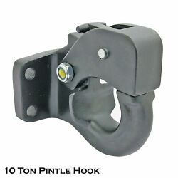 10 Ton Tow Pintle Hook Rigid Towing Hook Hitch Towing 4wd Truck Trailer Pickup