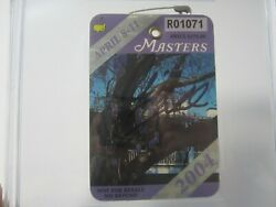 Phil Mickelson Pga Signed Autographed 2004 Masters Official Badge Jsa Authetnic