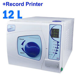 12l Small Dental Medical Lab Steam Autoclave Sterilizer Bench Top With Printer