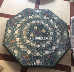 Marble Dining Table Tops Pauashell Inlay Floral Decorative Mosaic Real Art H5368