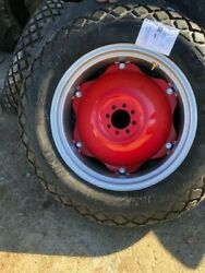 - Massy Ferguson 50 - 2- 12.4x28, 12.4-28, 8ply R1 Tires W/wheel And Red Center