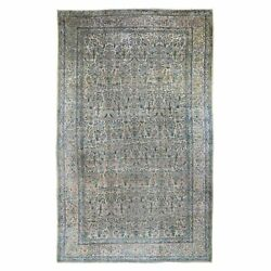 9'x16' Gallery Size Antique Farsian Karman Some Wear Hand Knotted Rug R48460