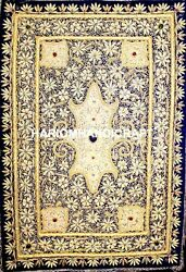 3and039x2and039 Jewel Trapesty Wall Hanging Panel With Precious Stones Home Decors M057