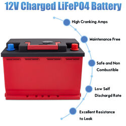 Dohon 12 Volt 40ah 1500cca Lithium Phosphate Battery Lifepo4 For Car Bms 072-20