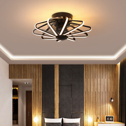 Ceiling Fan With Light Kit Remote Control Led Warm White Lamp Modern Light Black