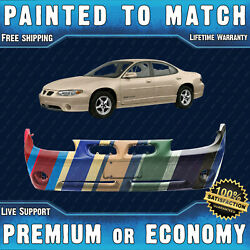 New Painted To Match Front Bumper Cover For 1997-2003 Pontiac Grand Prix Gt Gtp
