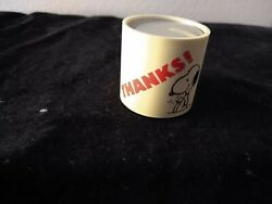 Peanuts Snoopy Thanks Candle Holder Love Lights New Holland 1958