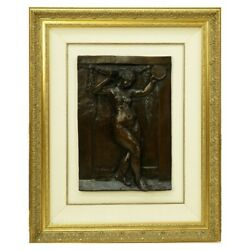 After Pierre Auguste Renoir, French 1841-1919 Bronze Relief