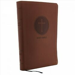 Holy Bible King James Version, Reference, Giant Print, Brown Leathersoft, R...