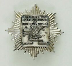 Vintage Sterling Silver Pin,the American Association Of Retired Persons