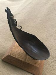 Antique Pawnee Bison Horn/ Leather Spoon 1860-1880s.