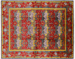 7and039 10 X 9and039 8 Handmade William Morris Wool Rug - P4932