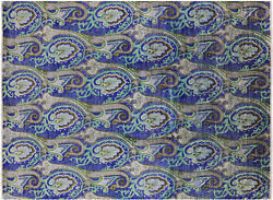 8and039 10 X 11and039 11 William Morris Handmade Wool Rug - P6877