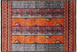 William Morris Handmade Wool Rug 6and039 2 X 9and039 1 - P7107