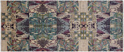 5' 1 X 12' 3 William Morris Hand Knotted Wool Rug - P7753