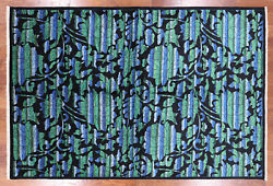 William Morris Rose Garden Wool Area Rug 6and039 2 X 9and039 2 - Q1765