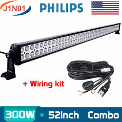 52inch 300w Slim Led Light Bar Combo Truck Offroad Suv Boat Driving Ute+wiring