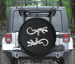 Spare Tire Cover Island Gecko Lizard Chameleon Tribal Ying Yang Auto Accessories