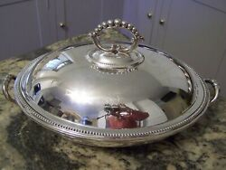 Regal 19th Century Silver Covered Warming Entree Tray Set - Hot Water Bath Style