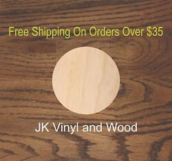 Set Of 10 Circles Laser Cut Wood Sizes Up To 5 Feet Multiple Thickness