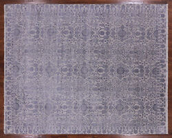 8and039 X 10and039 Hand Knotted Wool And Silk Area Rug - Q3857