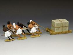 King And Country Ae064 Egyptian Stone Sled Team 130 Scale Metal Toy Soldiers