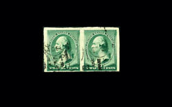 Us Stamp Used Vf S213p2 Andnbspplate Proof Imperf. Pair On Stamp Paper With Nice Can
