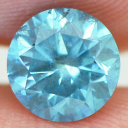Loose Blue Diamond Round Shaped Fancy Color Si2 Enhanced Certified 1.55 Carat